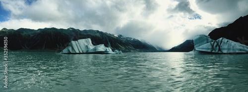 Fotografiet View Of Glaciers In Lake