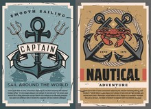 Nautical Vintage Posters Set W...