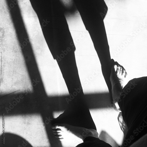 Fototapety, obrazy: Low Section Of Man Standing On Floor