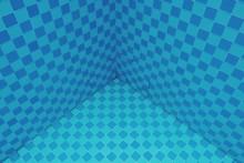 Full Frame Shot Of Blue Tiles