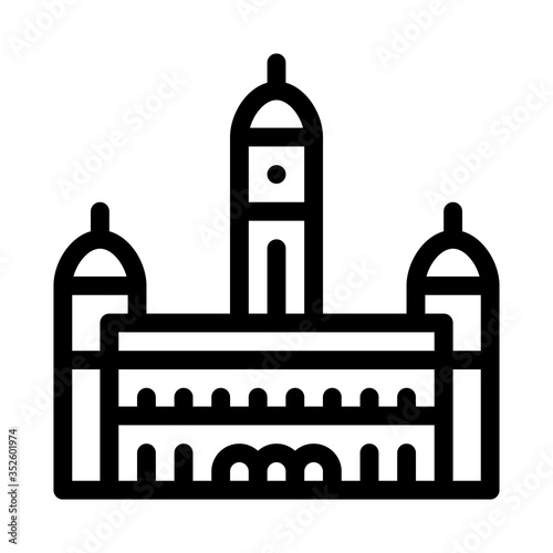 sultan palace abdul - samad icon vector Wallpaper Mural