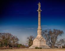Column At Yorktown In Virginia...