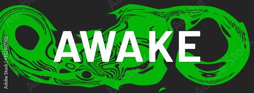 Photo awake web Sticker Button