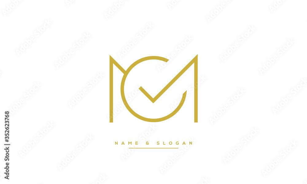 Fototapeta MC ,CM ,M ,C  letters abstract logo monogram