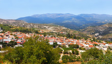 Cyprus, View To The Village Of...