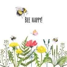 Watercolor Wildflower Summer B...