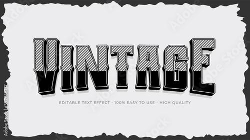 Fototapeta vintage editable text effect obraz