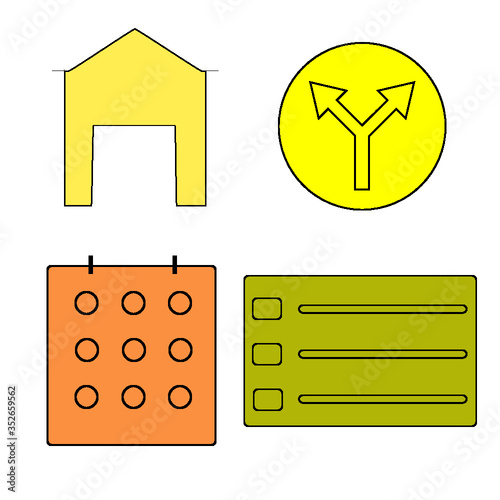 set of house icons set - 352659562
