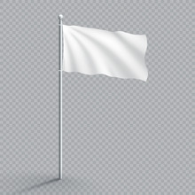 Plain White Realistic Waving 3...