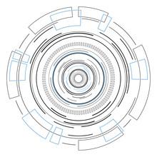 Abstract Technology Circle Sha...