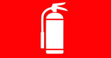 Vector Image Of The Fire Extinguisher Sign