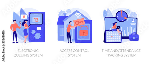 Photo Smart home security, employee attendance monitoring
