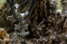 "Scandinavian Amulet In The Form Of The Thor's Hammer - ""Mjölnir""."