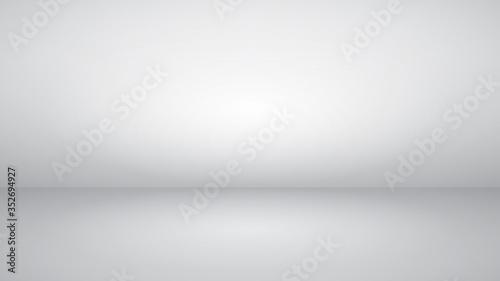 Stampa su Tela White empty studio background with soft lighting