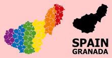 Rainbow Pattern Map Of Granada...