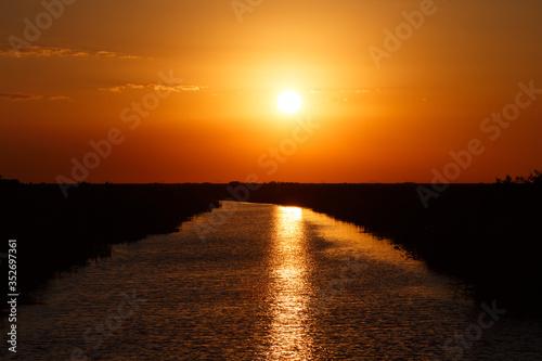 Sunset Eveglade canel