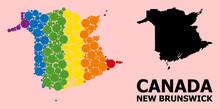 Rainbow Pattern Map Of New Bru...