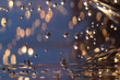 Abstract of christmas and bokeh light with glitter background