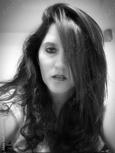 Fototapeta Portrait Of Serious Beautiful Woman obraz na płótnie