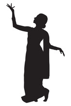 Indian Dancer In Silhouette