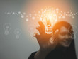 Idea and innovation in concept of creative idea