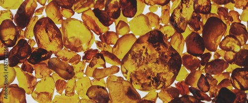 Fotografia Full Frame Shot Of Amber Stones