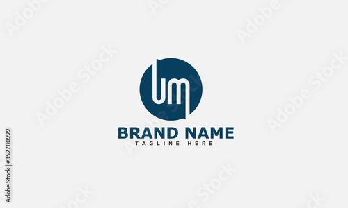 Letter UM logo icon design template elements Canvas Print