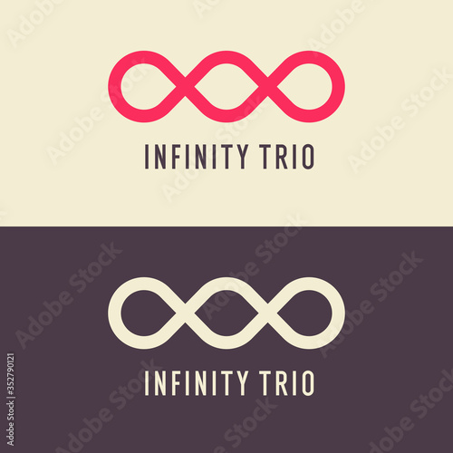 Cuadros en Lienzo The illustration shows the infinity trio sign. Modern graphics.