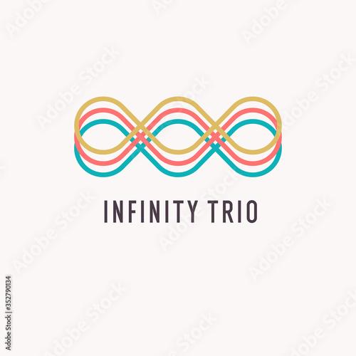 Obraz na plátně The illustration shows the infinity sign. Modern graphics.