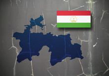 Map And Flag Of Tajikistan On ...
