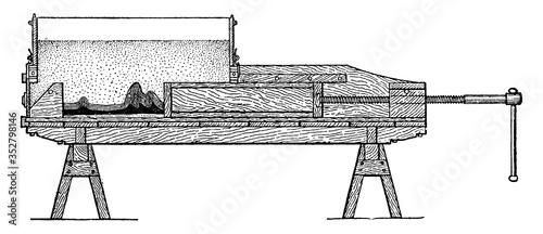 Machine for Producing Folded Strata, vintage illustration. Fototapeta