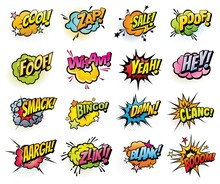 Comics Speech Bubbles And Soun...