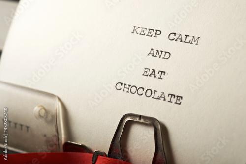 Keep calm and eat chocolate Tapéta, Fotótapéta