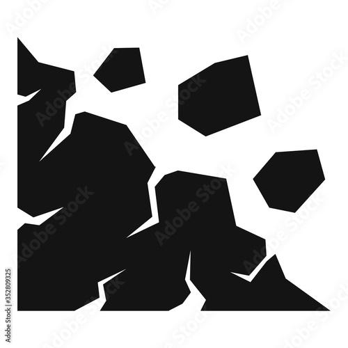 Obraz na plátně Cliff landslide icon