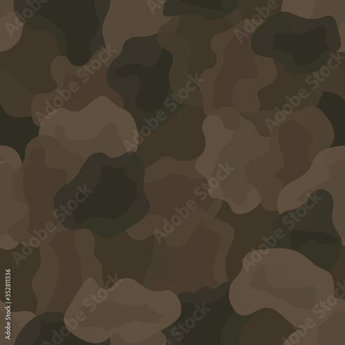 Fotomural Brown color style abstract geometric fashion camouflage seamless pattern