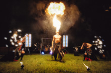 A Fire Show, Dancing With A Fl...