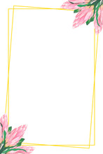 Floral Frame With Place For Te...