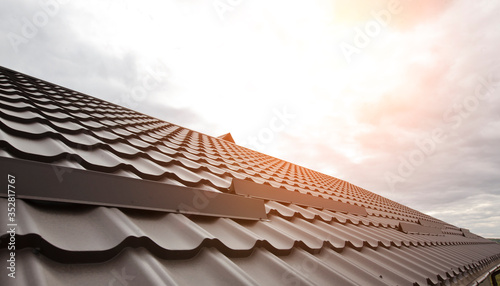 Fotografia The view of the rooftop made from metal tile