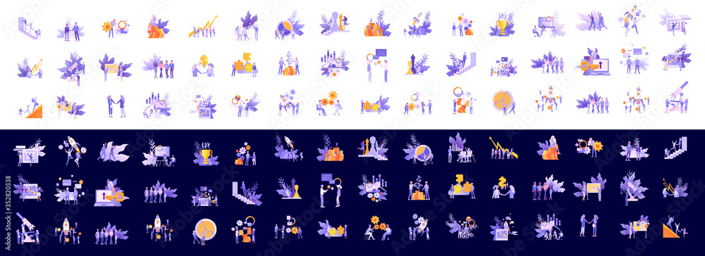 Fototapeta office concept business people for project management, business, workflow and consulting. Modern vector illustration flat concepts character for website and mobile website