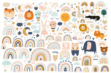 Abstract Doodles. Baby Animals...