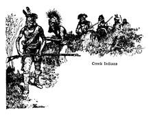 Civilized Tribes, Vintage Illustration.