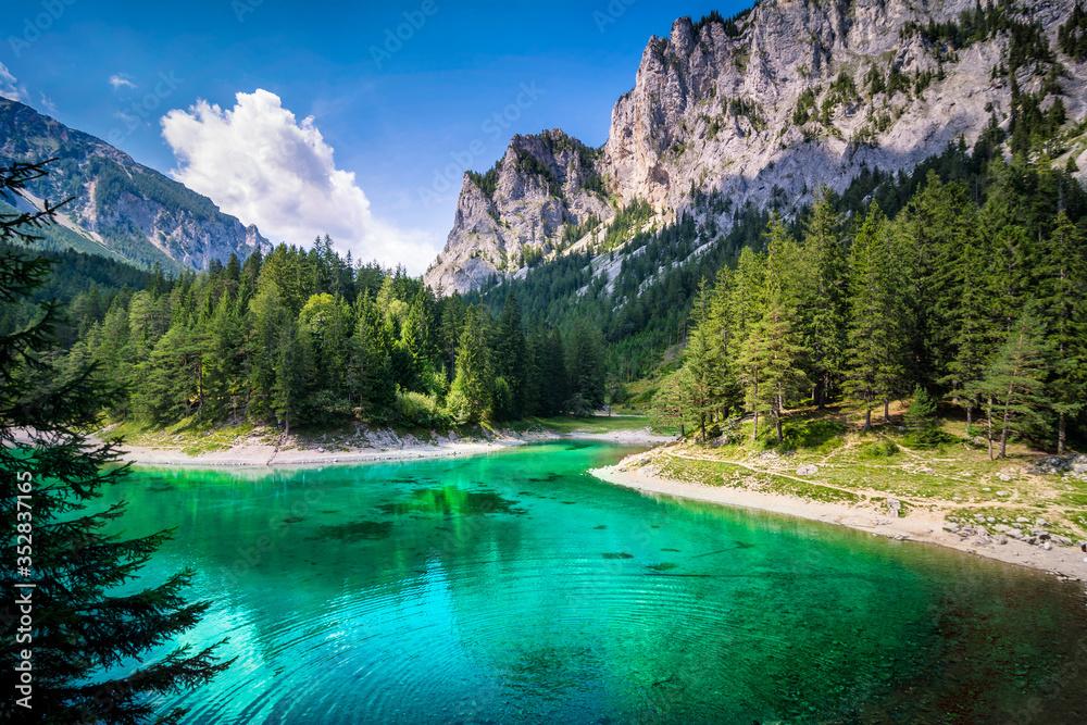 Fototapeta Grüner See, Steiermark, Österreich