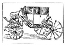 Washington's Coach, Vintage Illustration.