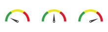 Colour Speedometer Icon Set, V...