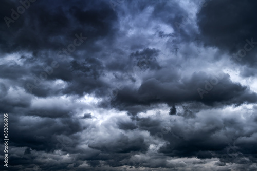 Storm Clouds Background Canvas Print