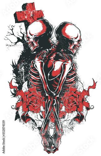 till dead do us apart Canvas Print