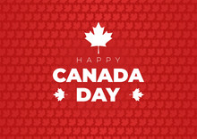Canada Day Background With Map...