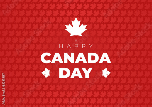canada day background with maple leafs. happy canada day