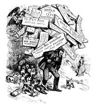 President Ulysses S. Grant, Vintage Illustration.