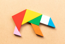 Color Tangram Puzzle In Grizzl...